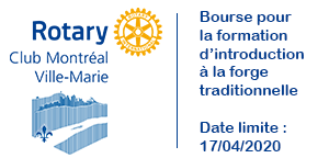 Bourse Rotary <br> Pour la formation d'introduction à la forge traditionnelle